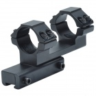 25mm Caliber F Aluminum Alloy Dual Bracket Gun Mount - Black