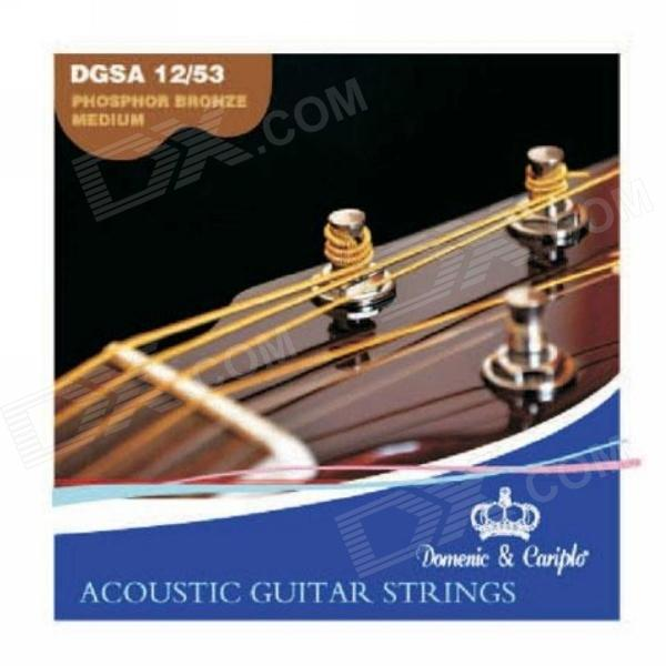 DEDO MA-70 Acoustic Guitar Nylon + Steel 6 String Guitar Strings - White + Transparent (6 PCS) 3 sets alice aw466 light acoustic guitar strings plated high carbon steel