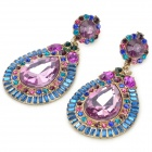 ER-7222 Water Drop Style Shining Zinc Alloy Earrings
