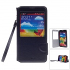 iPai HS3228 PU Leather Case Cover Stand w/ Visual Window for Samsung Galaxy Note 3 - Black