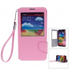 iPai HS3248 Head Layer Cowhide Case Cover Stand w/ Visual Window for Samsung Galaxy Note 3 - Pink