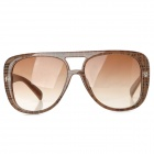 YIDUN 28013-C1 Fashion UV400 Protection Big Frame Sunglasses for Women = Brown + Black