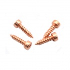 Jtron M4 x 16 Gold-plated Hexagon Socket Speakers Screws - Red Gold (4 PCS)