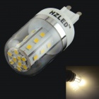 HZLED G9 4W 324lm 3000K 27 x SMD 2835 LED Warm White Light Lamp Bulb - White + Silver (AC 85~265V)