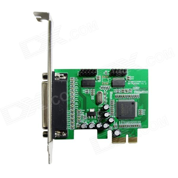 IOCREST MM-PCE9901-2S1P Combo 2-Port DB-9 Serial + 1-Port DB-25 Parallel PCI-E Controller Card pump repair kit db pg0261 for linx 4900 printer