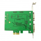 IOCREST IO-PCE384-4S WCH384 Chipset 4 DB-9 (RS-232) Portas para PCI Express Card Controller - Verde