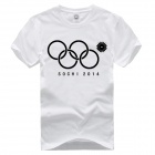 Winter Olympics The Fifth Missing Ring Sochi 2014 Fail T-Shirt - White (L)
