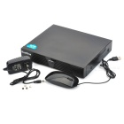 YianTime NVR5704F H.264 960P 4-Channel Network HD Digital Video Recorder w/ Wired Mouse - Black