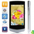 "V851 MTK6572 Dual-core Android 4.2.2 WCDMA Bar Phone w/ 4.0"", FM, Wi-Fi and GPS - Black + White"