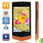 "V851 MTK6572 Dual-core Android 4.2.2 WCDMA Bar Phone w/ 4.0"", FM, Wi-Fi and GPS - Black + Orange"