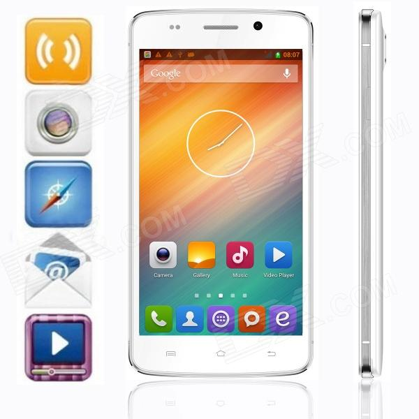 UBTEL Q1 MTK6592 Octa-Core Android 4.2 WCDMA Bar Phone w/ 5.0 IPS, GPS, OTG, HML, 16GB ROM - White s5 mtk6592 octa core android 4 4 2 wcdma bar phone w 5 0 ips qhd 8gb rom gps otg white