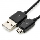 IKKI Micro USB macho a USB macho Cable de carga de datos w / switch para Samsung - Negro (100cm)