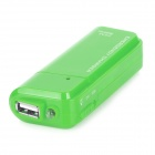 DC-007A Emergency 2 x AA Battery Power Bank Case for Cell Phone - Green