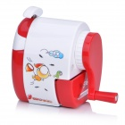 Sunwood 5116 Cute Cartoon Style Hand-Crank Desktop Pencil Sharpener - White + Red