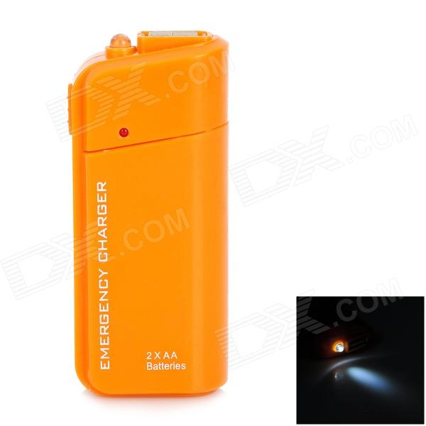 DC-007A Emergency 2 x AA Battery Power Bank Case for Cell Phone - Orange dc 007a emergency 2 x aa battery power bank case for cell phone yellow
