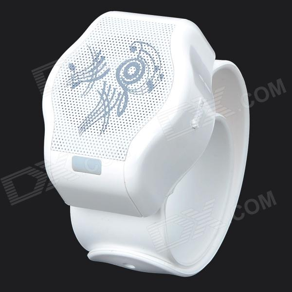 CB03 Stylish Wrist Watch Style Bluetooth Speaker w/ TF - White tt tf ths 02b hybrid style black ver convoy asia exclusive