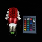 Christmas Tree Style E27 3W LED RGB Light Lamp w/ Remote Controller