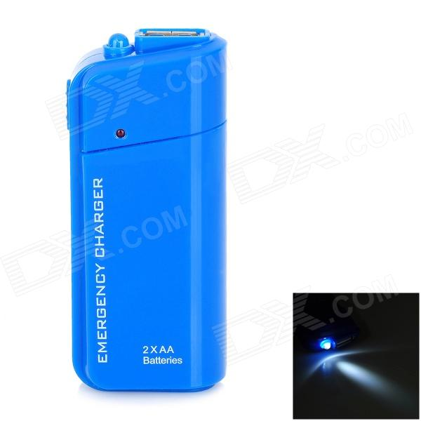 DC-007A Emergency 2 x AA Battery Power Bank Case for Cell Phone - Blue dc 007a emergency 2 x aa battery power bank case for cell phone yellow