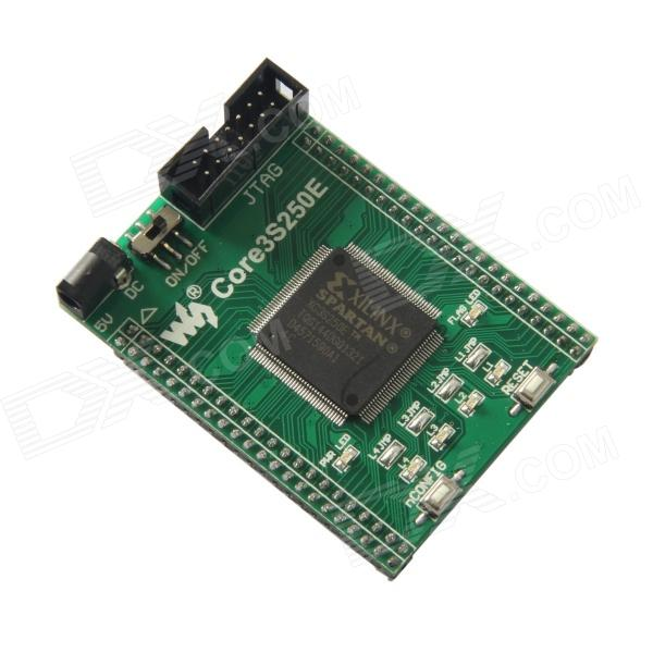 Waveshare Core3S250E XC3S250E XILINX Spartan3E FPGA Evaluation Development Core Board - Green xilinx fpga development board xilinx spartan 3e xc3s250e evaluation board kit lcd1602 lcd12864 12 modules open3s250e package b