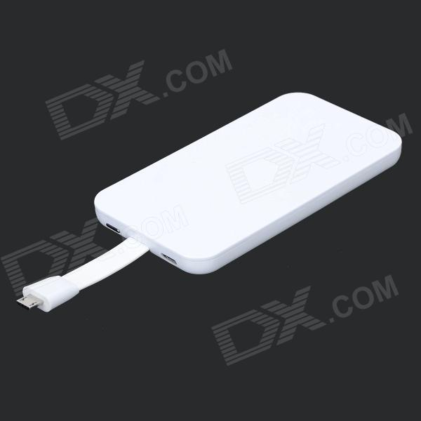 Universal 4000mAh Portable Power Bank - White