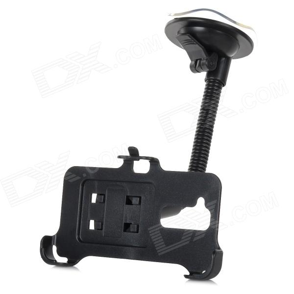 Convenient Car Mounted 360' Rotating Suction Cup Phone Holder for LG G2 - Black toz 360 rotating car mount suction cup holder for gps 1 4 camera black