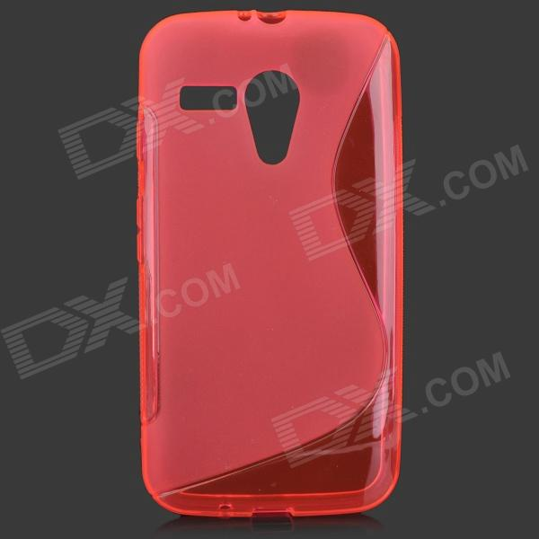 S Style Anti-Slip Protective TPU Back Case for MOTO G - Deep Pink mesh style protective back case for htc one x s720e deep pink