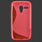 """S"" Style Anti-Slip Protective TPU Back Case for MOTO G - Deep Pink"