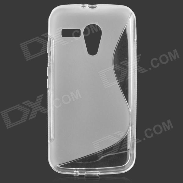 """S"" Style Anti-Slip Protective TPU Back Case for MOTO G - Translucent White"