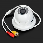 "YanSe YS-8813CCW 1/4"" CMOS 700TVL Dome CCTV Camera w/ IR-Cut / 24-LED Night Vision - White"