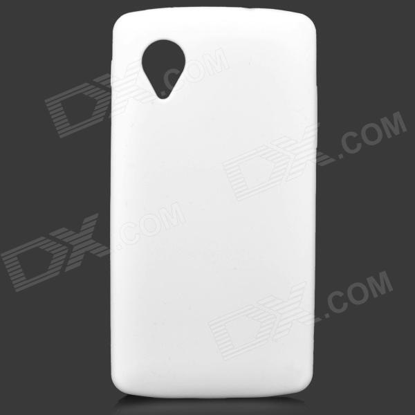 Protective Silicone Back Case for LG Nexus 5 - White protective silicone back case for lg nexus 5 translucent white