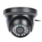 "YanSe YS-8813CCB 1/4"" CMOS 700TVL CCTV Dome Camera w/ IR-Cut / 24-LED Night Vision - Black"