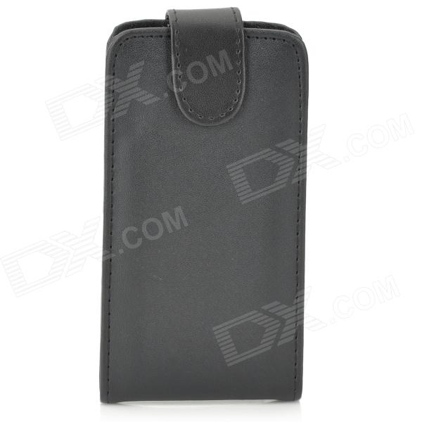 Protective Flip-Open PU Leather Case for Sony Xperia Z1 Mini / M51w - Black