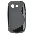 """S"" Style Anti-Slip Protective TPU Back Case for Samsung Galaxy Pocket Neo S5310 - Black"