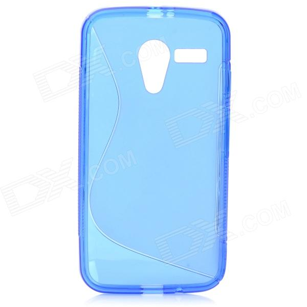 """S"" Style Anti-Slip Protective TPU Back Case for MOTO G - Blue"