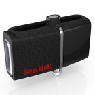 SanDisk SDDD OTG USB Flash Drive for Smart Phone + Tablet PC - Black (32GB)