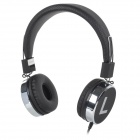 Kanen IP-870 Retro 3.5mm Jack Wired Stereo Headset - Black + Silver