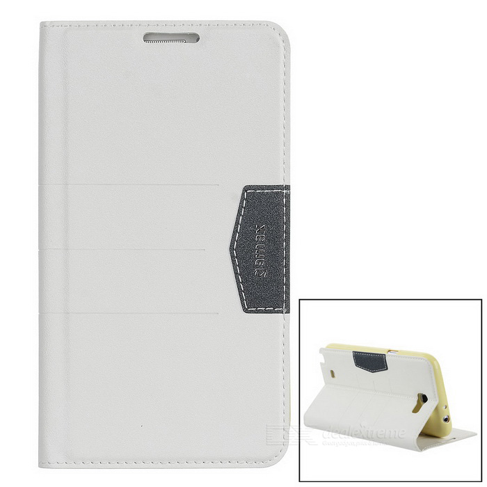 Protective Frosted PU Leather Case for Samsung Galaxy Note 2 N7100 - White