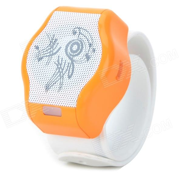 CB03 Stylish Wrist Watch Style Bluetooth Speaker w/ TF - Orange + White tt tf ths 02b hybrid style black ver convoy asia exclusive