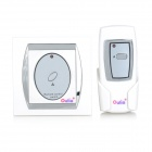 Oulia Household 1-Wire Wireless Remote Switch w/ Remote Controller - White + Silver (1 x 23A)