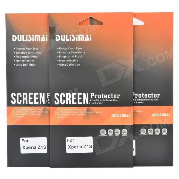 DULISIMAI Protective Screen Protector Guard Film for Sony Xperia Z1S (3 PCS)