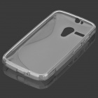 """S"" Style Anti-Slip Protective TPU Back Case for MOTO G - Grey"