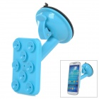 JX 1-020 Universal Car Suction Cup Stand Holder for Cellphone / GPS - Blue