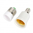 LetterFire 2-in-1 E14 to E27 + E27 to E14 Adapters Set for LED Bulb - White