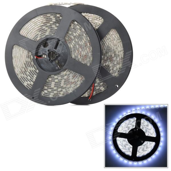 ZX-Y 144W 5000LM White 600-5050 SMD LED Water Resistant Dimming Light Strip - White + Yellow (10m)
