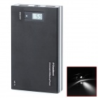 "0,8"" LCD 12000mAh Dual USB transportabel makt kilde Bank med LED for IPHONE / Samsung / HTC - svart"
