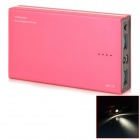 12000mAh Dual USB Portable Mobile Power Source Bank w/ LED for IPHONE / Samsung / HTC - Red