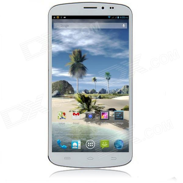 "AMPE A605 Quad Core Android 4.2.1 WCDMA Bar Phone w/ 6.44"", 1GB RAM, 8GB ROM, GPS - White"
