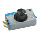 New High Precision Servo / ESC Tester for RC Model - White + Light Blue