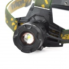 K12 3-Mode 400lm White Zooming LED Headlight - Black