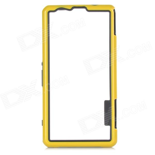 Protective PC TPU Bumper Frame for Sony Xperia Z1 Compact / Mini - Black + Yellow чехол вертикальный откидной для sony xperia z1 compact mini красный armorjacket